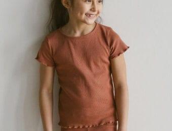 Rib Jersey T-Shirt für Kinder