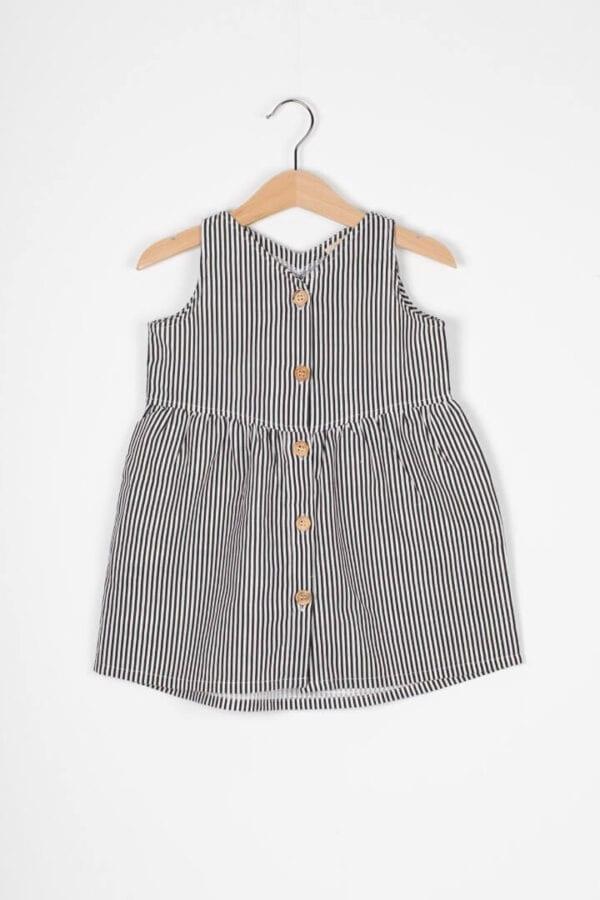 Produktfoto: Luftiges Kleid aus Bio-Leinenstoff für Kinder, Vorderseite