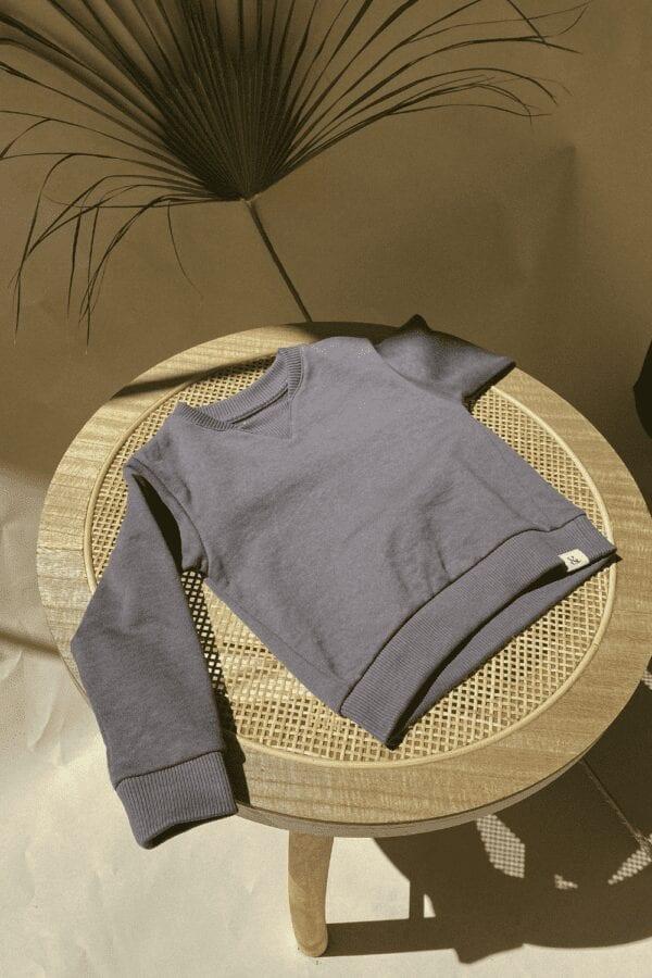 Sweater in slate für Kinder