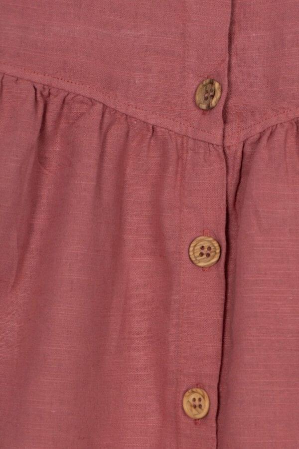 Produktfoto: Luftiges Kleid aus Bio-Leinenstoff für Kinder, Detail