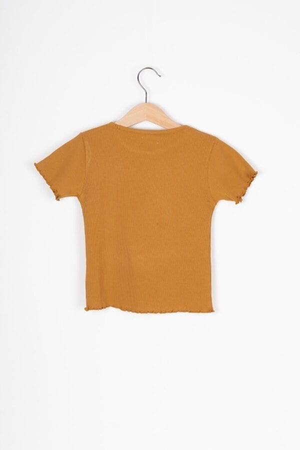 Produktfoto: T-Shirt mit Rollsaum für Kinder, Rückseite