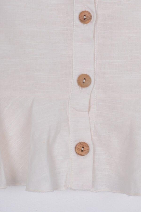 Produktfoto: Leinentop mit Schößchen, Detail