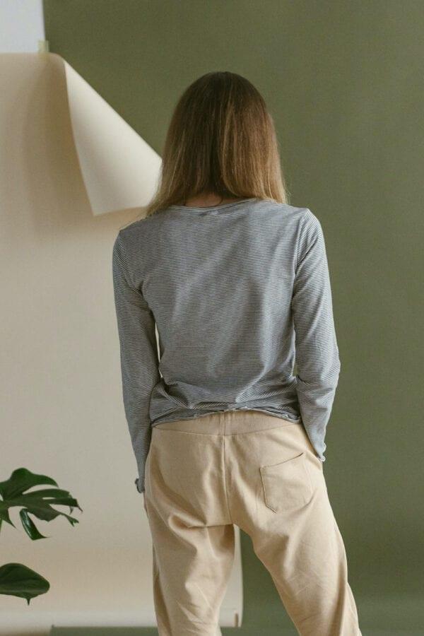 Jersey Longsleeve in gestreift für Frauen