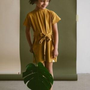 Jersey Kleid mit Bindegurt für Kinder