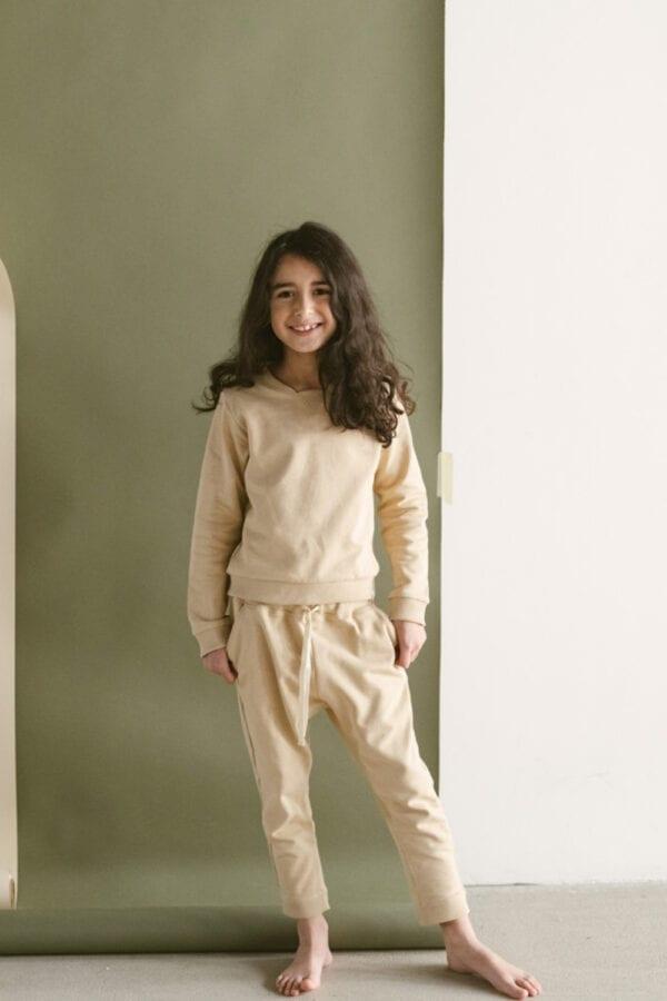 Sweater in sand für Kinder