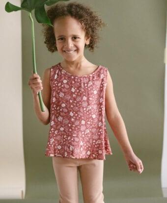 Ärmelloses Top mit Schößchen für Kinder