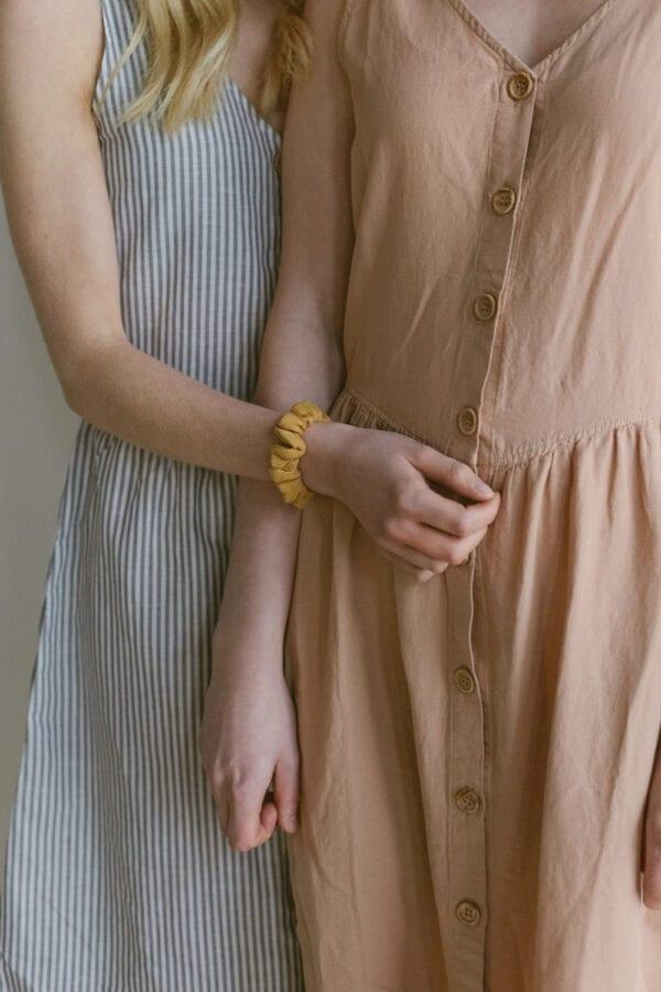 Leinenkleid in clay für Frauen
