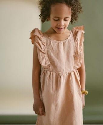 Tunikakleid aus Leinen für Kinder