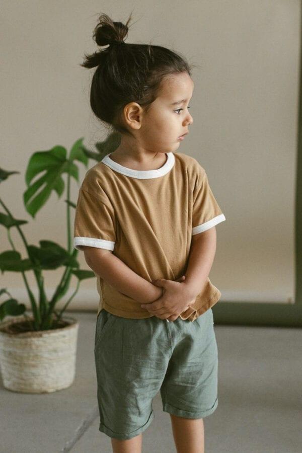 Retro Shirt in oat für Kinder