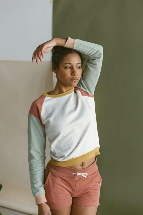 Sweat Shorts in sage für Frauen